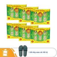 6 hộp yến sào Thiên Hoàng 15% hương lá dứa (6 lọ/hộp) - Tặng 1 đôi dép đi trong nhà màu ngẫu nhiên