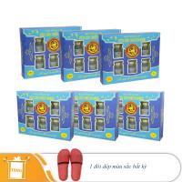6 hộp yến sào Thiên Hoàng 15% hương vani  (6 lọ/hộp) - Tặng 1 đôi dép đi trong nhà màu ngẫu nhiên