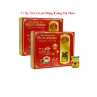 8 Hộp yến huyết đông trùng hạ thảo 15% (6 lọ/hộp) - Tặng 1 hộp yến đông trùng hạ thảo 20% (6 lọ/hộp) + 2 chai mật ong Honey An 380gr + 8 lon yến (hương vị ngẫu nhiên)