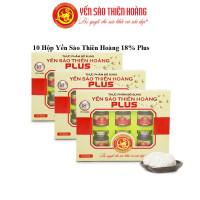 10 Hộp yến sào Thiên Hoàng 18% (6 lọ/hộp) - Tặng 2 chai mật ong hoa tràm 380gr + 12 lon yến (vị ngẫu nhiên)